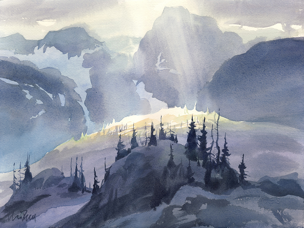 Painting Landscapes in Watercolour with Clive Powsey
