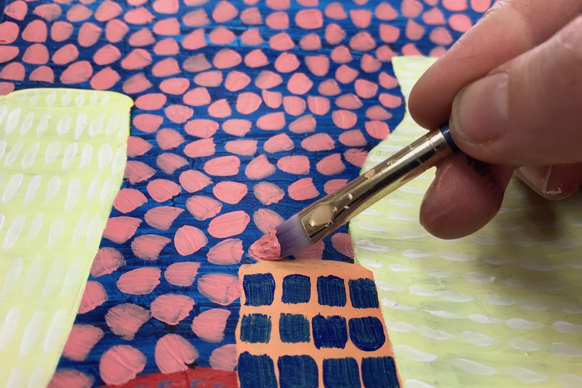 Acrylic Painting 2 – Pattern, Texture and Yayoi Kusama