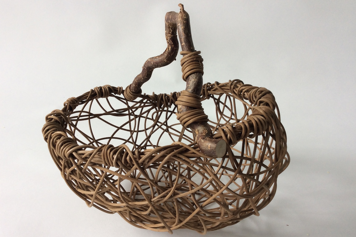 Freehand Basket Weaving with Wood Handle with Amy Dugas