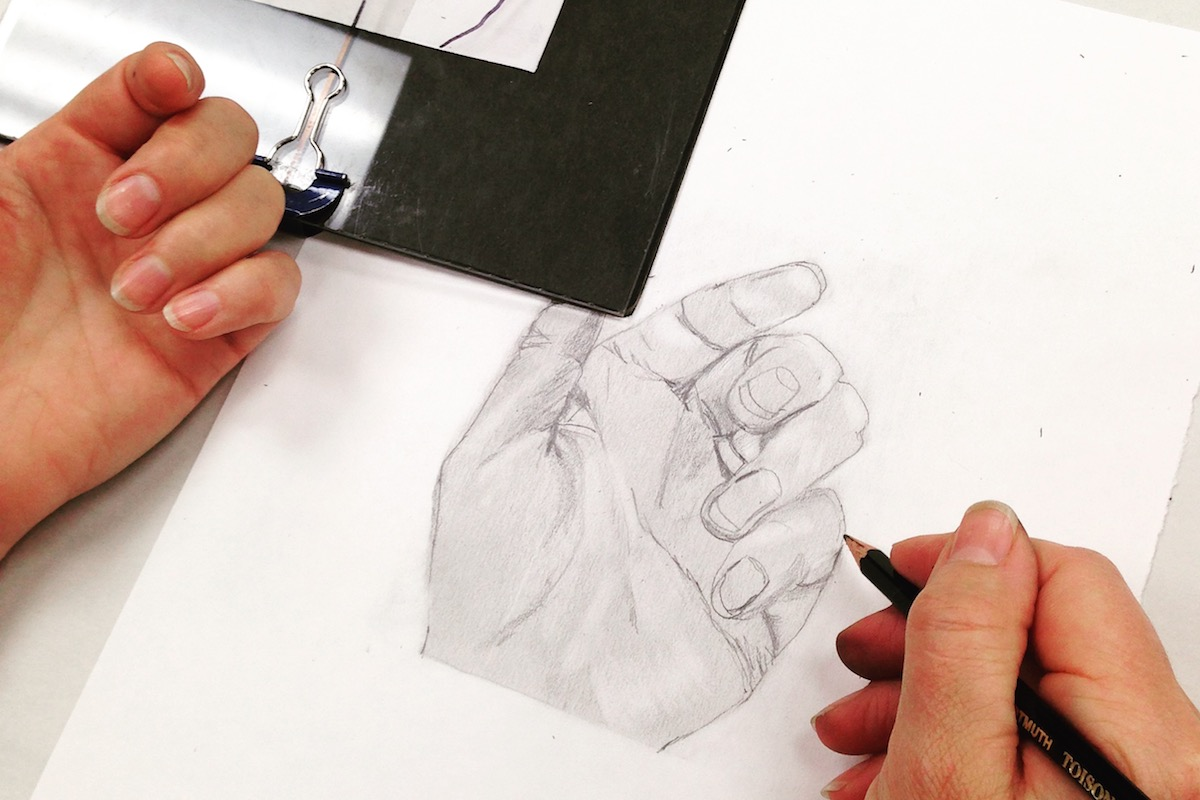 Drawing 2 – Light, Proportion & Cross Contour