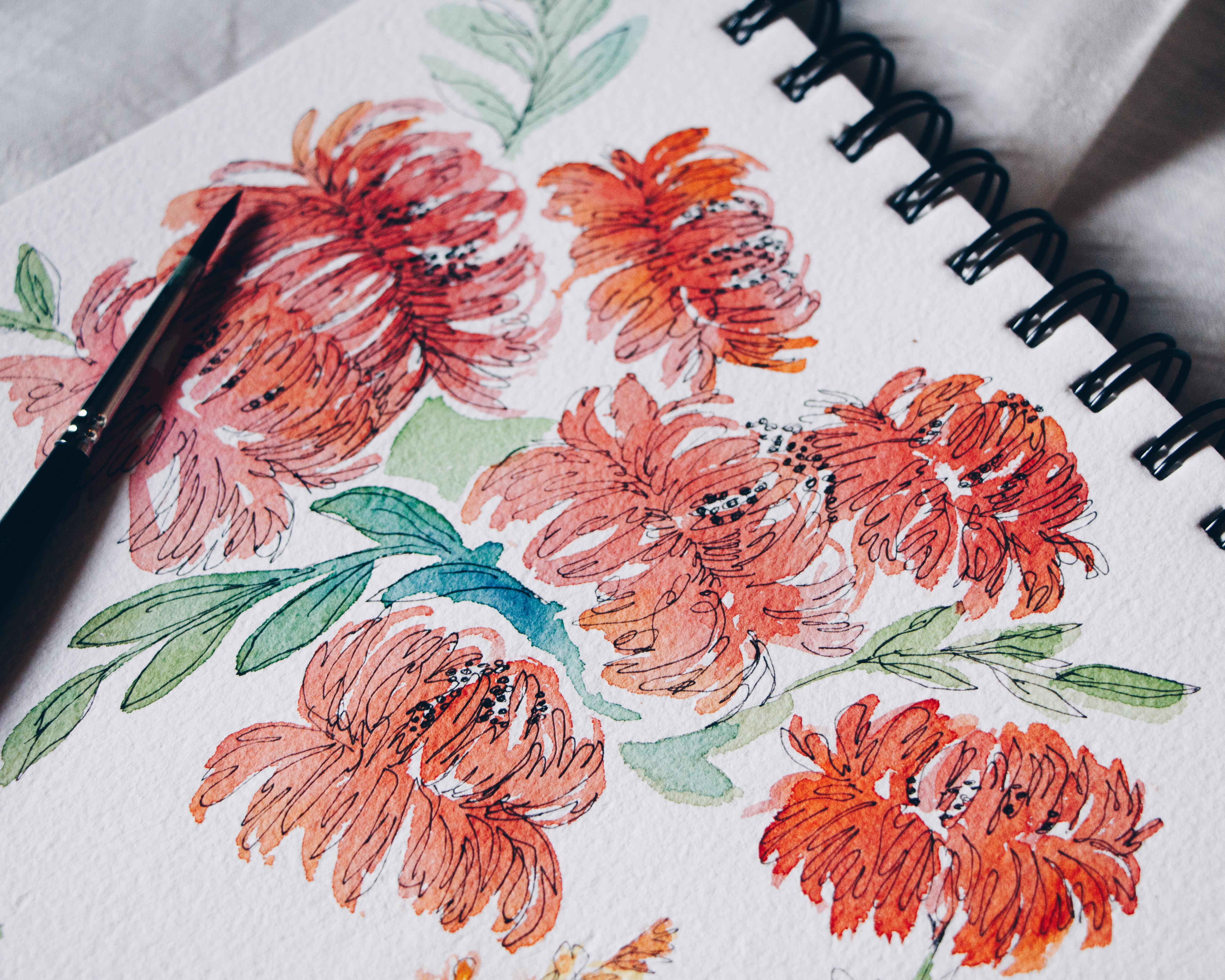 Botanicals in Ink and Watercolour with Nicole Warrington