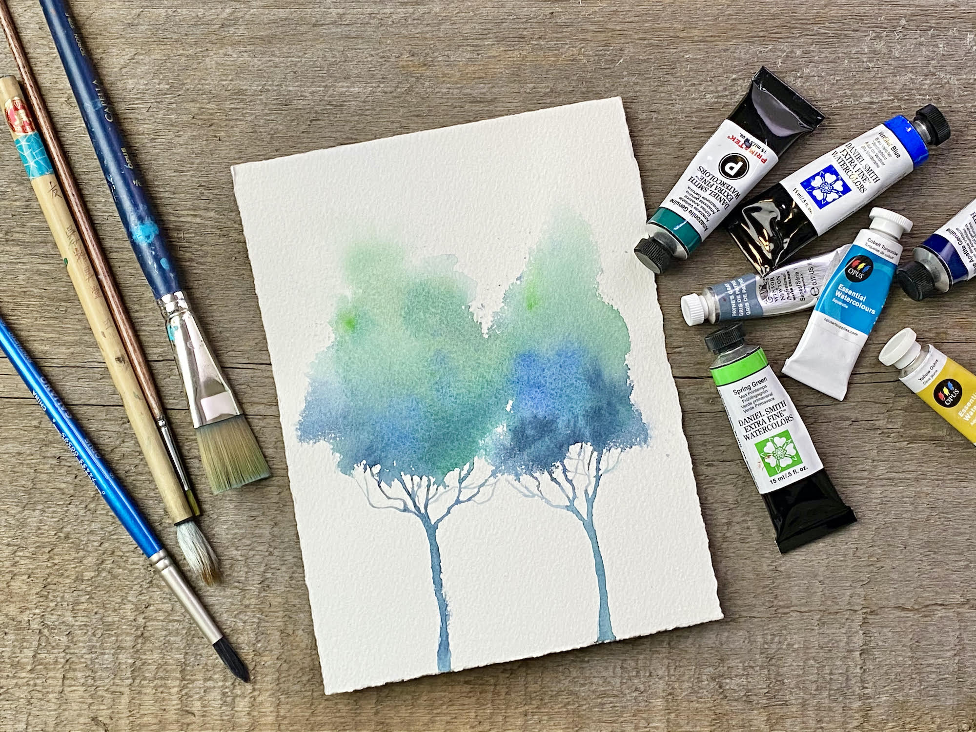 Trees in Watercolour with Nicole Warrington – ONLINE